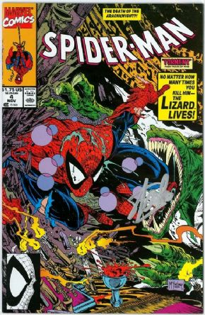 Spider-Man #4 First Print (1990) Signed Stan Lee Lizard Marvel comic book